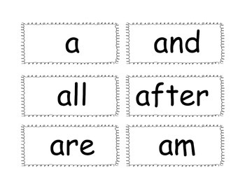 Word Wall High Frequency Words