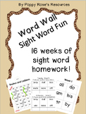 Sight Word Homework - 16 week Program