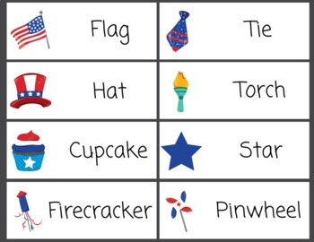 Word Wall Independence Day