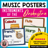 Musical Instruments Posters: Instruments of the Orchestra Classroom Decor