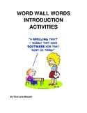 Word Wall Introduction Activities