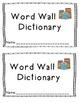 Word Wall Journal - Dictionary Skills