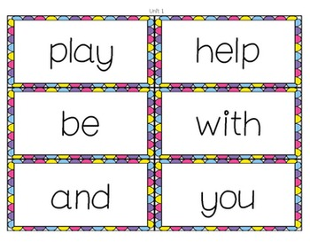 Word Wall (Journey's 1st grade words)