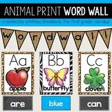 Safari Word Wall Cards