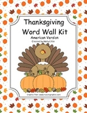 Word Wall Kit - American Thanksgiving Words