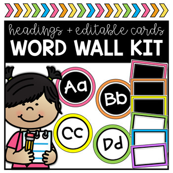 Word Wall Kit - Editable
