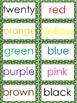 Word Wall Kit - Lime Green Polka Dots {Editable}