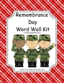Word Wall Kit - Remembrance Day Words