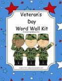 Word Wall Kit - Veteran's Day Words