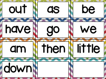 Word Wall Kit in Rainbow Chevron (editable)
