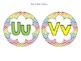 Word Wall Kit in Rainbow Chevron (editable)