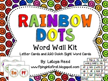 Word Wall Kit in Rainbow Dots