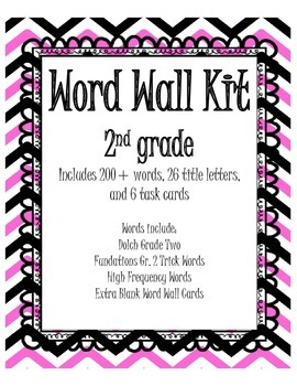 Word Wall Kit with Task Cards - 2nd Grade