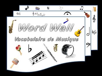 Word Wall La Musique