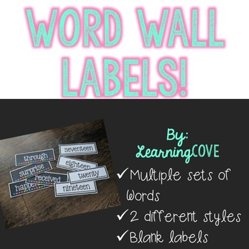 Word Wall Labels!