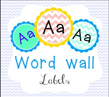 Word Wall Labels