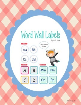 Word Wall Labels- 3 Designs, 2 Versions(Capital/Both the lower and upper)