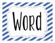 Word Wall Labels - Bilingual - Dual Language - English & Spanish