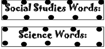 Word Wall Labels - Black & White *FREEBIE*