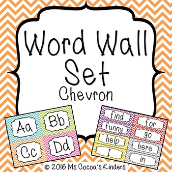 Word Wall Set - Chevron