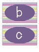 Word Wall Labels (lowercase) - Colorful Chevron