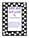 Word Wall Labels -Dolch (Black and White Dots)