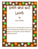 Word Wall Labels- Dolch (Brown and multi-colored Dots)
