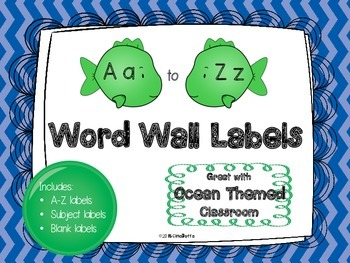 Word Wall Labels - Fish