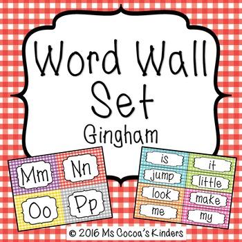 Word Wall Set - Gingham