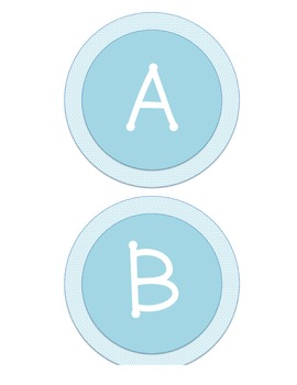 Word Wall Labels - Light Blue