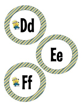 Word Wall Labels - Minions