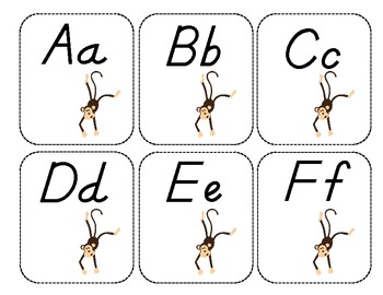 Word Wall Labels-Monkeys FREEBIE