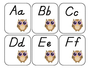 Word Wall Labels-Owls
