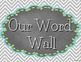 Word Wall Labels in Typewriter Font - Owls, Chalkboard and Chevron Theme!