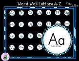 Word Wall Labels Zebra-Blue Pattern
