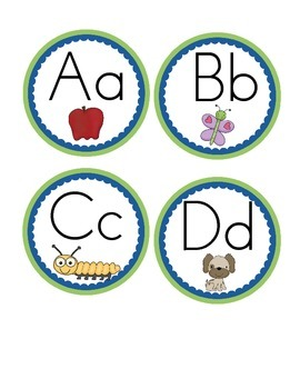 Word Wall Labels in Circle Frame