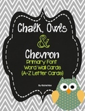 Owl & Chevron Alphabet and Number Cards for Word Walls and Labels!
