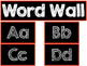 Word Wall Labels with Color Borders