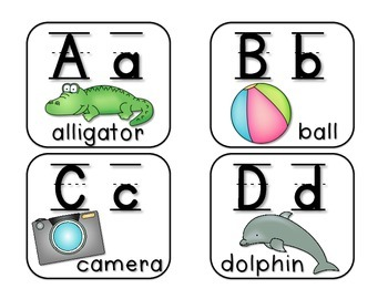 Word Wall Labels with Pictures