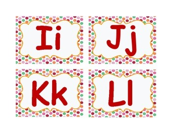 Word Wall Labels with Polka Dot Design...4 Colors