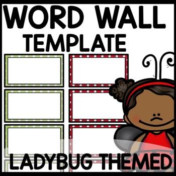 Word Wall (Ladybug Themed)