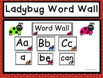 Word Wall: Ladybugs