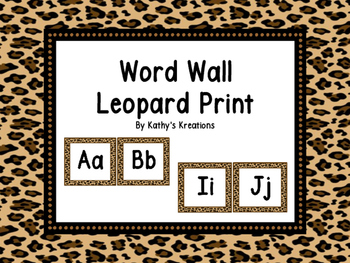 Word Wall Leopard Print (Dollar Deal)