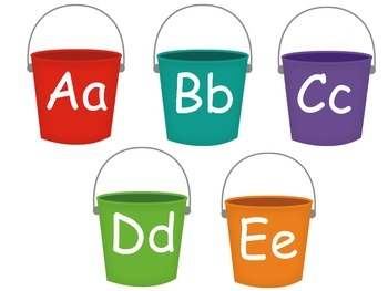 Word Wall Letter Buckets and Word Cards