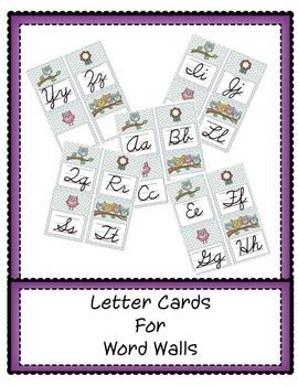 Word Wall Letter Cards