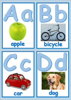 Word Wall Letter Cards- Dual Language