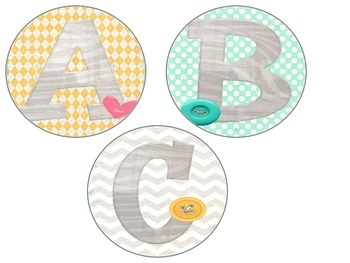 Word Wall Letter Cards - Modern Print Circles