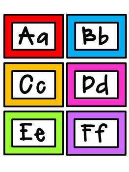 Word Wall Letter Cards - Solid Colors