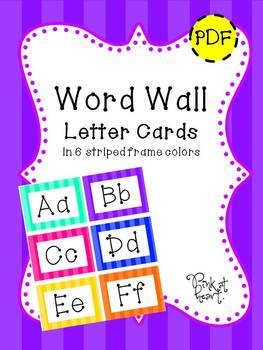 Word Wall Letter Cards - Stripes