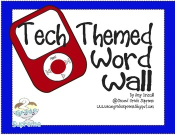 Word Wall Letter Cards Tech Themed